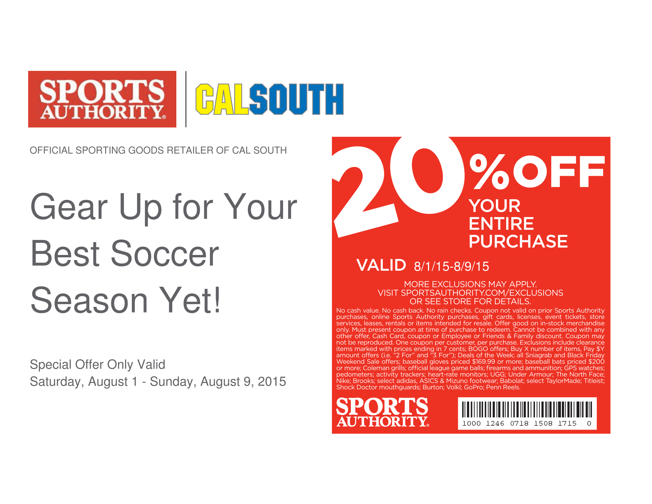 Sports Authority 30% Off Coupon - mjsulapost.tk 30% off 30% off Get Deal Sports Authority 30% Off Coupon - mjsulapost.tk 30% off Get Deal Get Deal 30% off Get Deal Sports Authority Coupon Codes go to mjsulapost.tk Total 20 active mjsulapost.tk Promotion Codes & Deals are listed and the latest one is updated on.